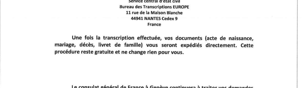 Info – Consulat générale de France à Genève